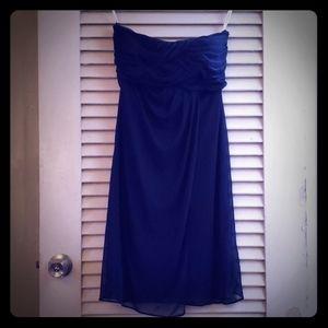 Navy blue dress.